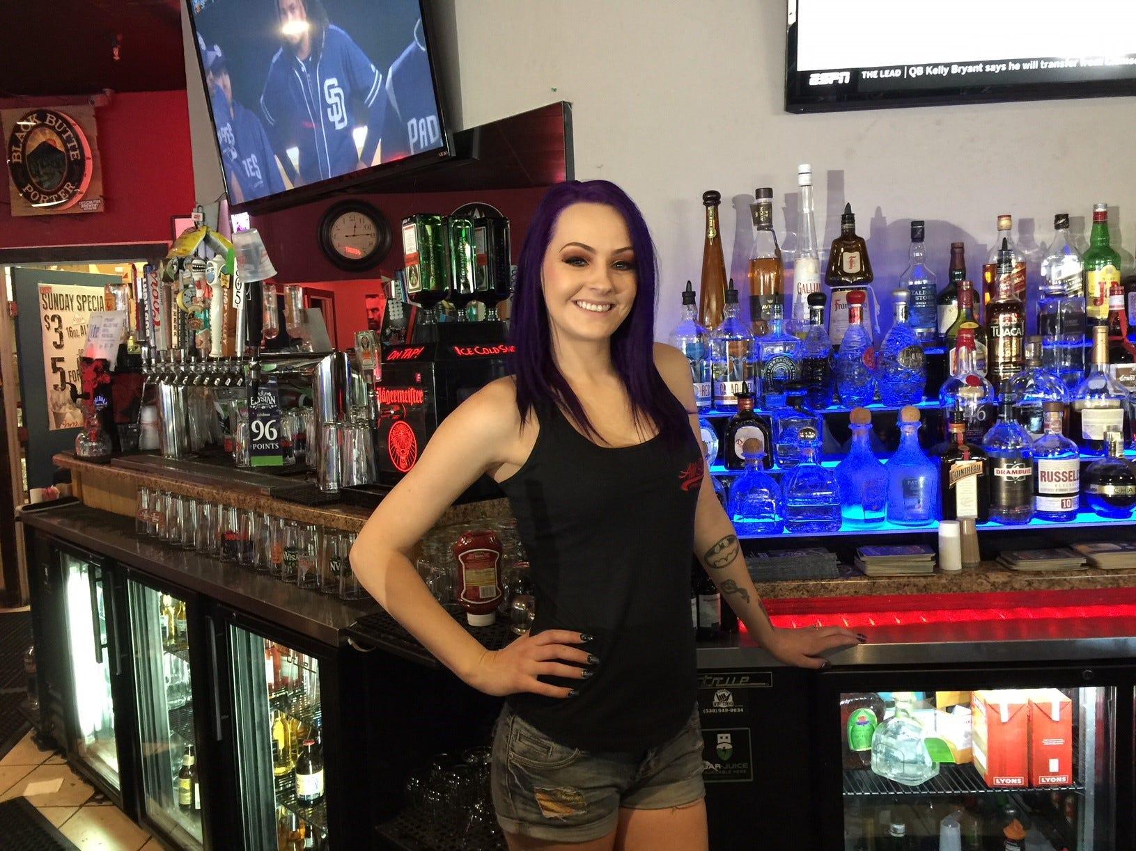 All Stars bartender Pattie Hufnagel at All Stars Sports Bar in Redding.