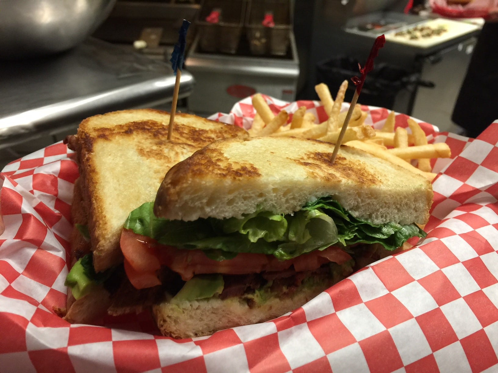The BLAT sandwich at All Stars in east Redding.