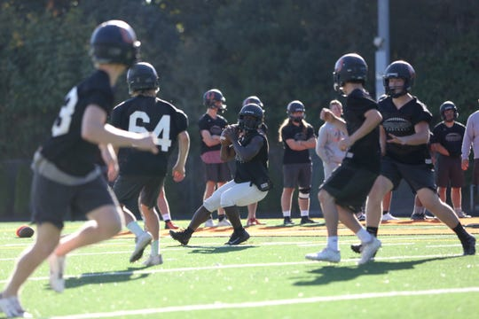 Sprague practices for their next game against Tigard on Monday, Sept. 24 at Olympic Stadium in South Salem.