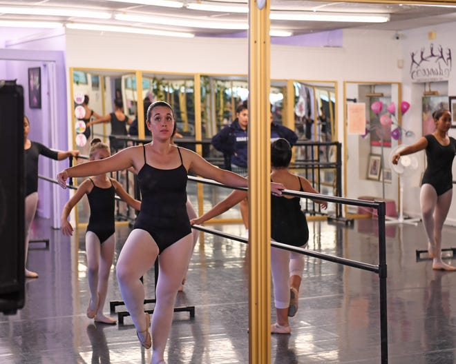 Rachel Valentin practices with the rest of the Intermediate Ballet Class Tuesday and Thursday afternoons.