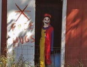 A scary clown at Nightmare @ Camp WIlliams.