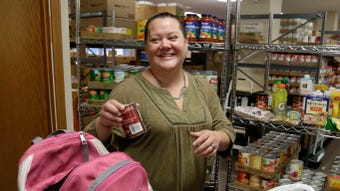 Salvation Army food pantry fills needs of people on fixed low incomes.