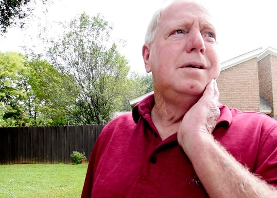 Neighbor of Tech. Sgt. Joshua L. Kidd, John Edwards, recounts what he saw in the GreenAcres Place subdivision.