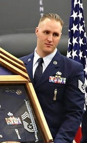 Tech. Sgt. Joshua Kidd was shot and killed Tuesday, Sept. 25, in Bossier City.