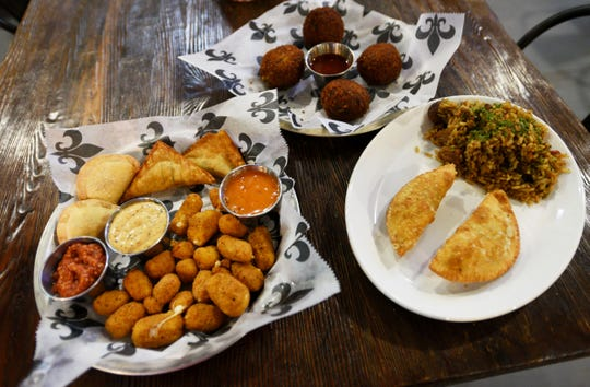 A selection of food from the Cane River Commissary in Natchez, Louisiana.