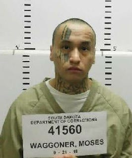 Moses Waggoner, 24, is deemed likely to re-offend after he is released from prison on Friday.