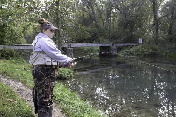 Women anglers are invited to fish for free Saturday, Sept. 29, at Bennett Spring State Park.