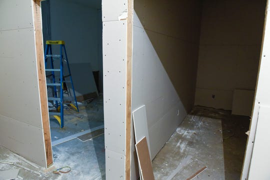 The garage at Terebinth Refuge is being finished shown Wednesday, Sept. 26, to create two offices.