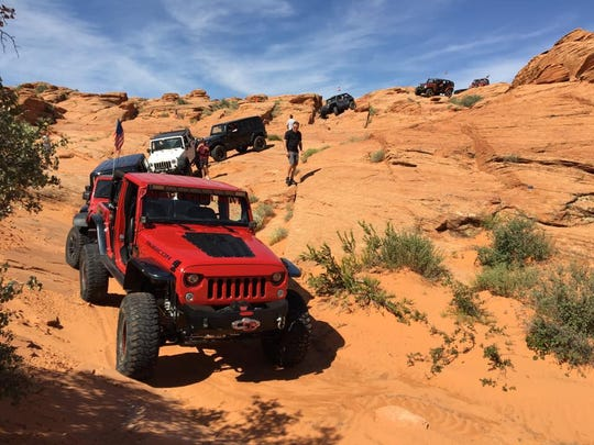 Drivers participate in Trail Hero, a marquee off-roading event scheduled this year for Oct. 2-6 at Sand Hollow State Park in Hurricane.