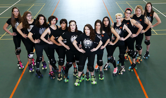 The city's roller derby team wraps up its season with a bout against Macon on Saturday night.