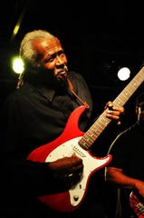 Local guitarist Darryl Steele makes music Saturday at Blue Tavern.