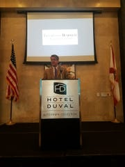 Tallahassee Democrat President Skip Foster speaks at the Best & Brightest kick off.