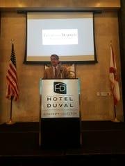 Tallahassee Democrat President Skip Foster speaks at the Best & Brightest kick off.