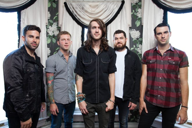 Rhythm guitarist Brooks Betts, second from left, will be with Mayday Parade when the alt-rockers play The Moon on Tuesday night.