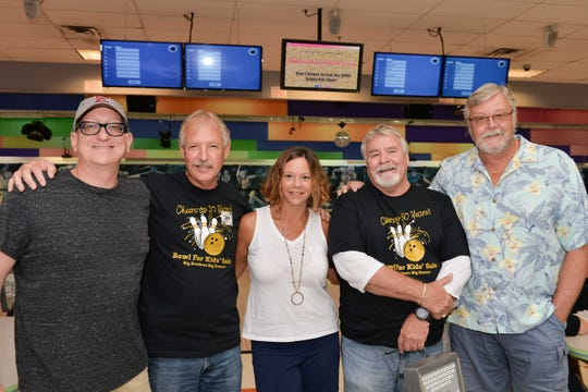 St. Lucie County Administration Team members Erick Gil, left, Howard Tipton, Charlotte Bireley, Ron Parrish and Jeff Bremer at the 30th annual Bowl for Kids' Sake, benefiting Big Brothers Big Sisters of St. Lucie, Indian River and Okeechobee Counties.