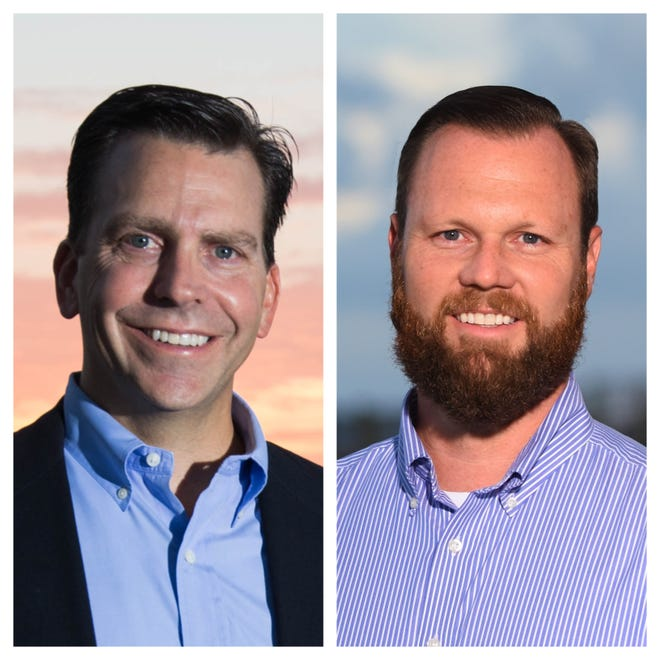 Candidates for Florida House District 83 Toby Overdorf (left) and Matt Theobald.