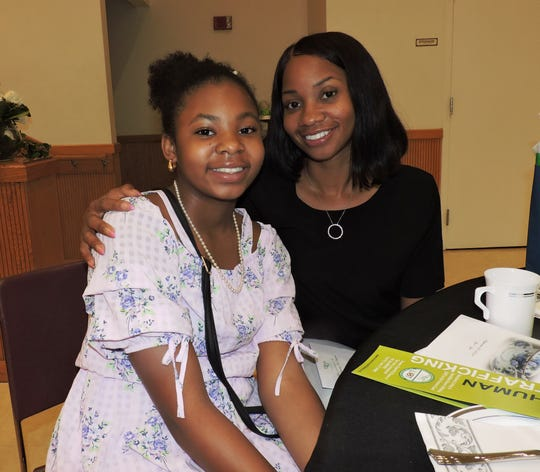 Aurelia Kennedy, right, with her daughter Jordyn Kennedy at the Port St. Lucie Civic Center for the Mother & Daughter Tea, sponsored by the Treasure Coast Chapter of Links, Incorporated.