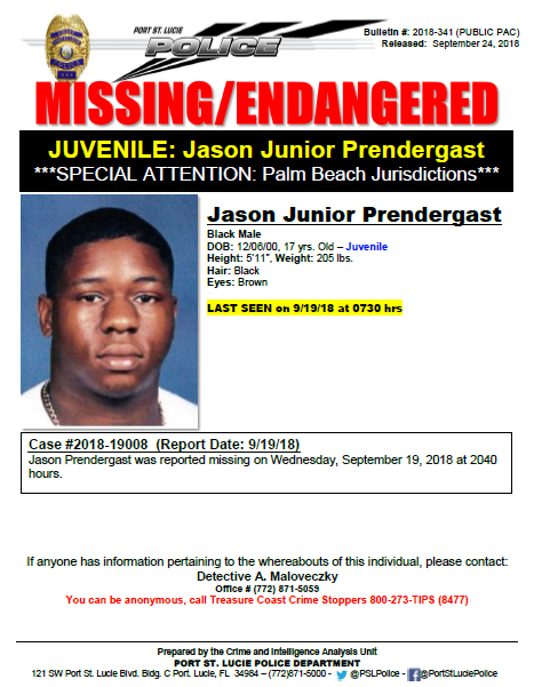 Psl Missing Teen