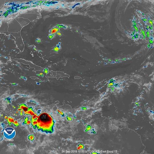 Tropical Storm Kirk 11 a.m. Sept. 26, 2018