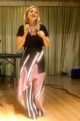 Singer Daniela Martino delighted the crowd.