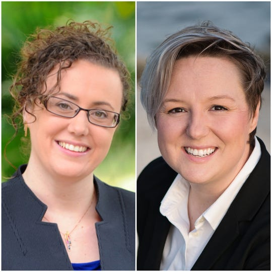 Candidates for Florida House District 54 Erin Grall (left) and Nicole Haagenson