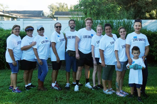 Volunteers from the Indian River County Tax Collector's Office helped with upgrades made at Grace Grove Community Park during the United Way's Day of Caring.