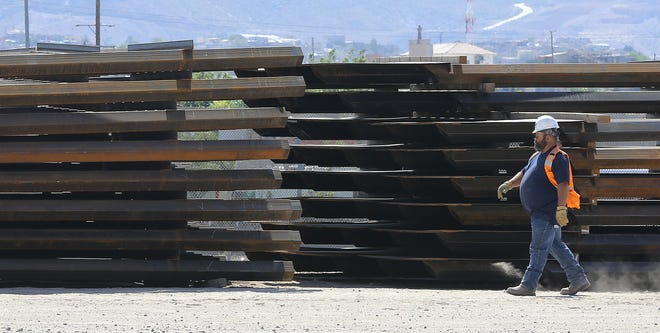Border wall construction is underway in El Paso. The first section of wall is going up under the Stanton Street International Bridge in downtown El Paso.