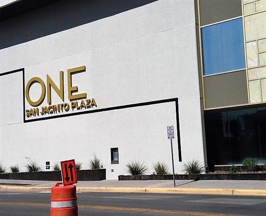 The new One San Jacinto Plaza name is now on the Mesa Street side of the former Chase Tower at 201 E. Main St., in Downtown El Paso.