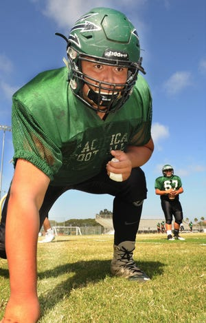 Pacifica High senior Armando Sifuentes has made himself into one of the best two-way lineman in Ventura County.