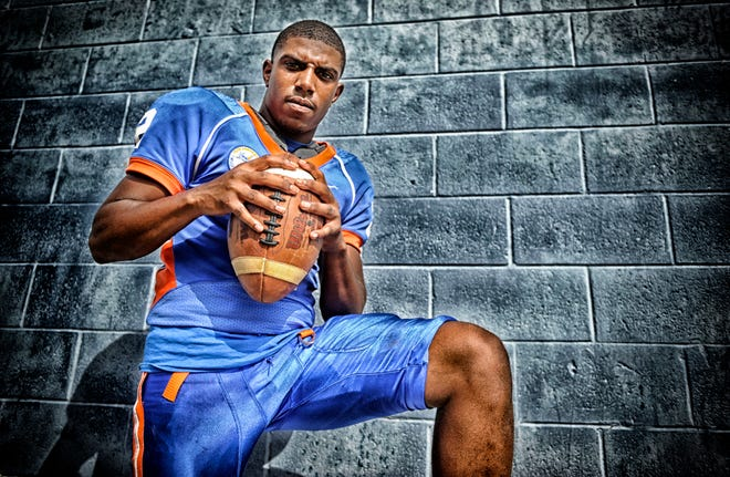 Millville's Dashon Byers pictured here during practice on Tuesday, September 25.