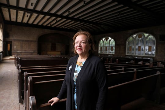 Co-founder Sobeida Cruz talks about the expansion of the Charter School of Educational Excellence in Yonkers to include high school grades from inside the Our Lady of the Rosary Church, which will be renovated to become the future gymnasium for the high school, Sept. 26, 2018 in Yonkers.