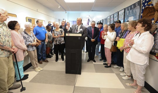 Clarkstown Supervisor George Hoehmann holds a press conference to highlight the renovations to the Street Community Center in New City on Wednesday, September 26, 2018.