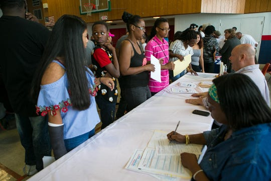 On Wednesday, students from the Delaware Academy of Public Safety attended a high school fair and applied for positions at other schools. They found out Tuesday that DAPSS would be closing immediately.