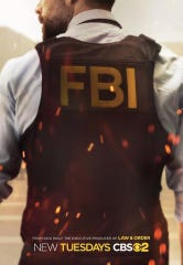"""Zeeko Zaki, who grew up in Unionville, but spent a lot of time in Delaware, is one of the stars in Dick Wolf's new television series, """"F.B.I."""" This is his back in the CBS promo poster."""