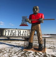 Frightland's oversized Frankenstein is ready to welcome visitors this weekend when they open their gates for the 2018 season.
