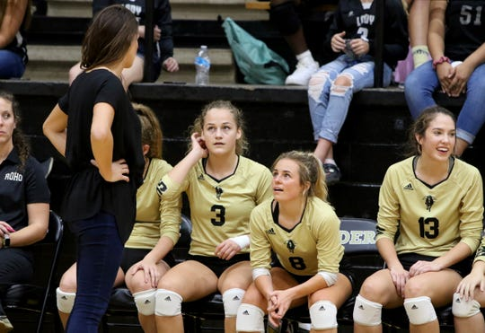 Rider volleyball coach Alysha Humpert leads the Lady Raiders into a dual match with top-ranked Byron Nelson and Amarillo High