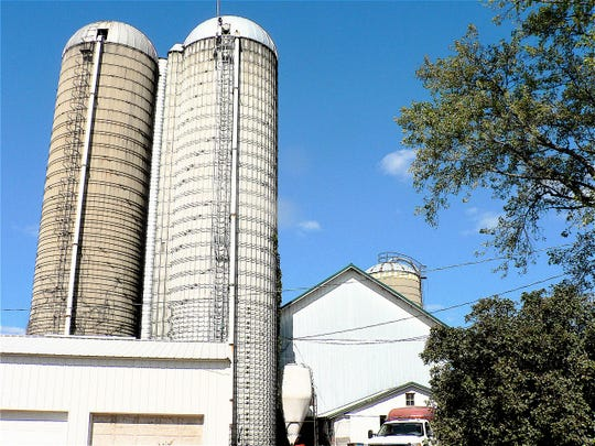 The silos and barn are now empty.