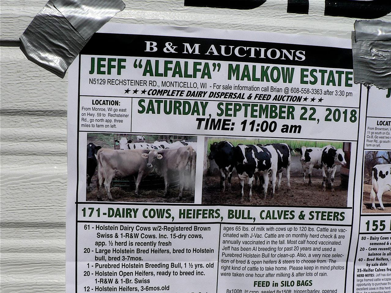 One less dairy farm.