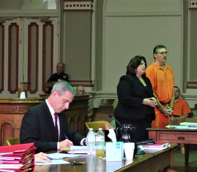 Dana Webb, represented by Attorney Kendra Kinney, was sentenced to five years in prison Wednesday for sexually assaulting a nine year old while on a camping trip.