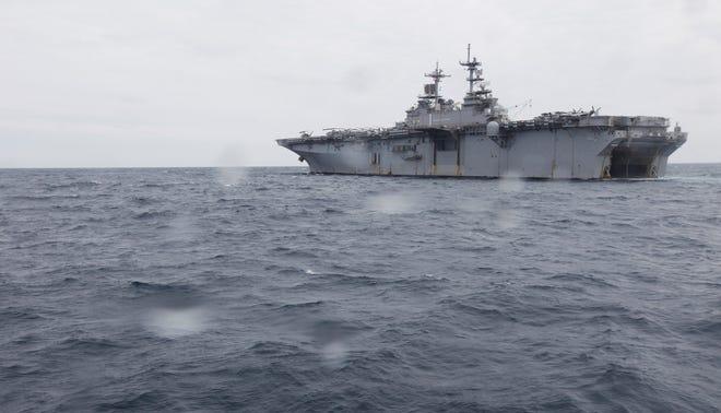 The Amphibious assault ship USS Wasp