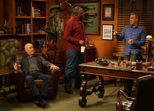 Hector Elizondo, left, and Jonathan Adams join Tim Allen in the Fox revival of 'Last Man Standing.'