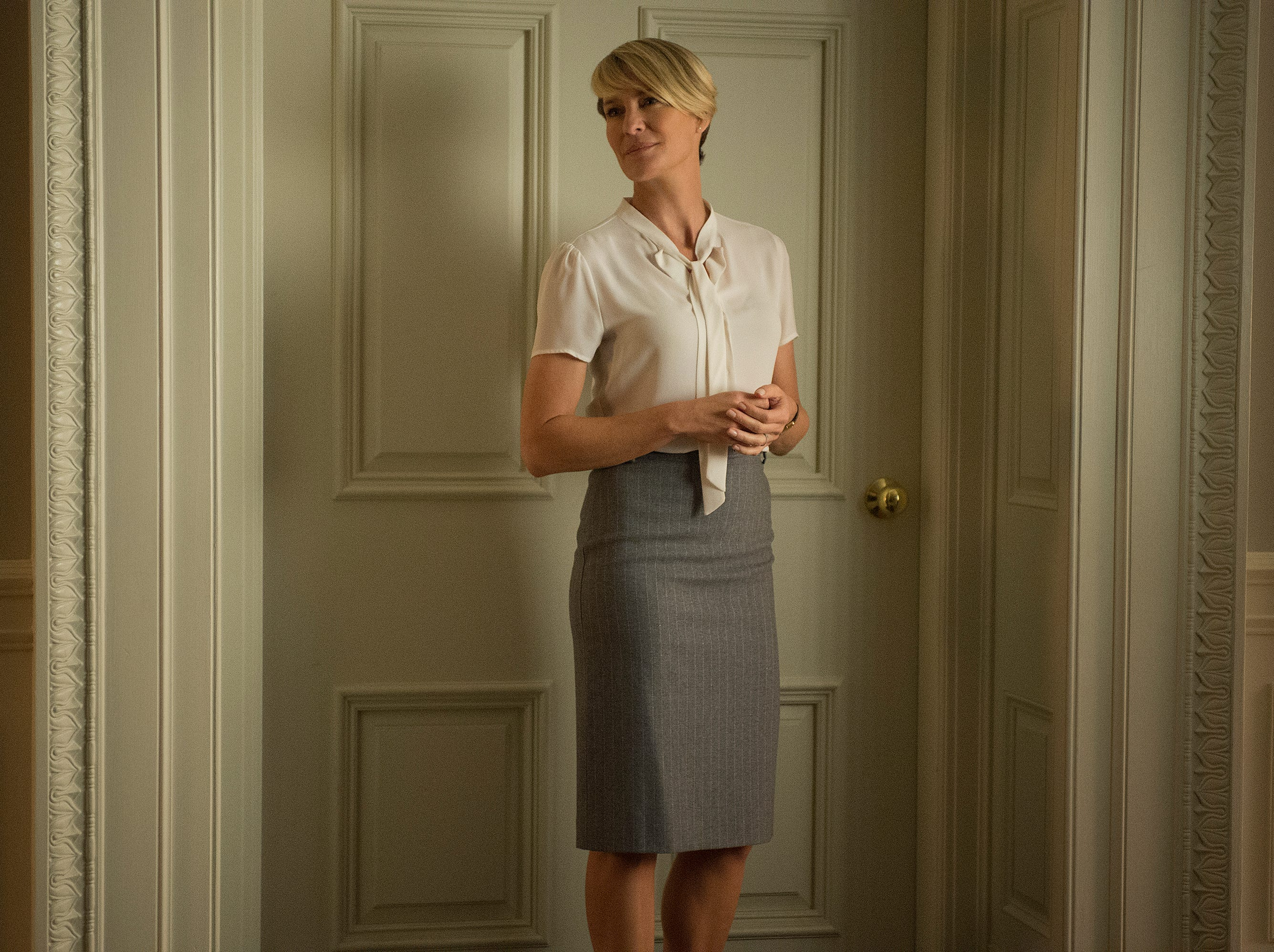 "Robin Wright in Season 3 of Netflix's ""House of Cards."" Credit: David Giesbrecht, Netflix"