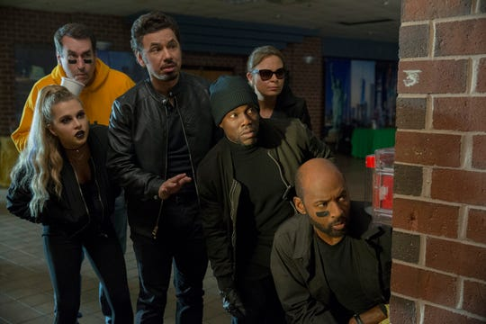 "In ""Night School,"" Anne Winters (from left), Rob Riggle, Al Madrigal, Kevin Hart, Mary Lynn Rajskub and Romany Malco star as the group of misfits forced to attend adult GED classes."