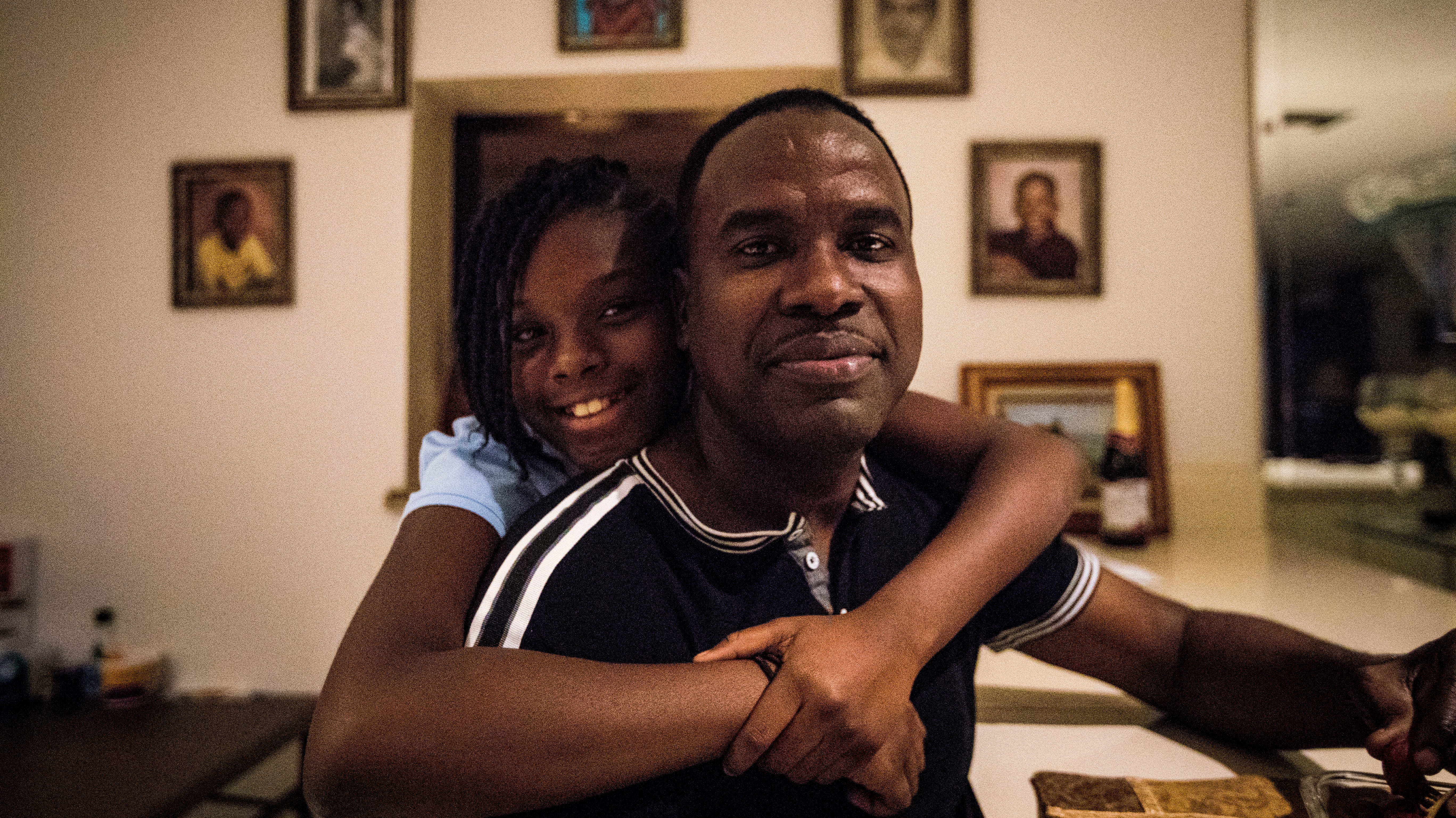 Rony Ponthieux (right) and his 11-year-old daughter Ronyde Christina Ponthieux (left) are facing a life-changing decision as the Trump administration phases out the Temporary Protected Status (TPS) program. Rony, a registered nurse who has been a legal resident under the TPS program for nearly a decade, must return to his native Haiti by July 22, 2019, or risk becoming an undocumented immigrant at risk of deportation. Ronyde is a U.S. citizen and her parents don't know if they'll take her to Haiti, a country she's never visited, or leave her behind in the U.S. Hundreds of thousands of families around the country are facing the same quandary.