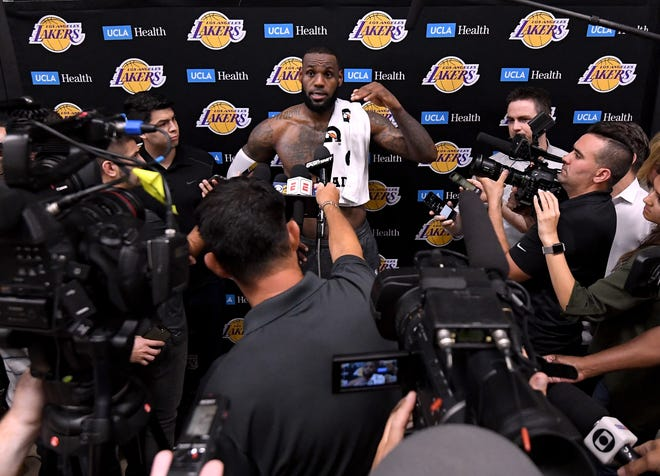 LeBron James and the Lakers had their first scrimmage Wednesday.