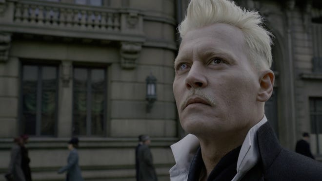 "Johnny Depp stars as Gellert Grindelwald in ""Fantastic Beasts: The Crimes of Grindelwald,"" out in November."