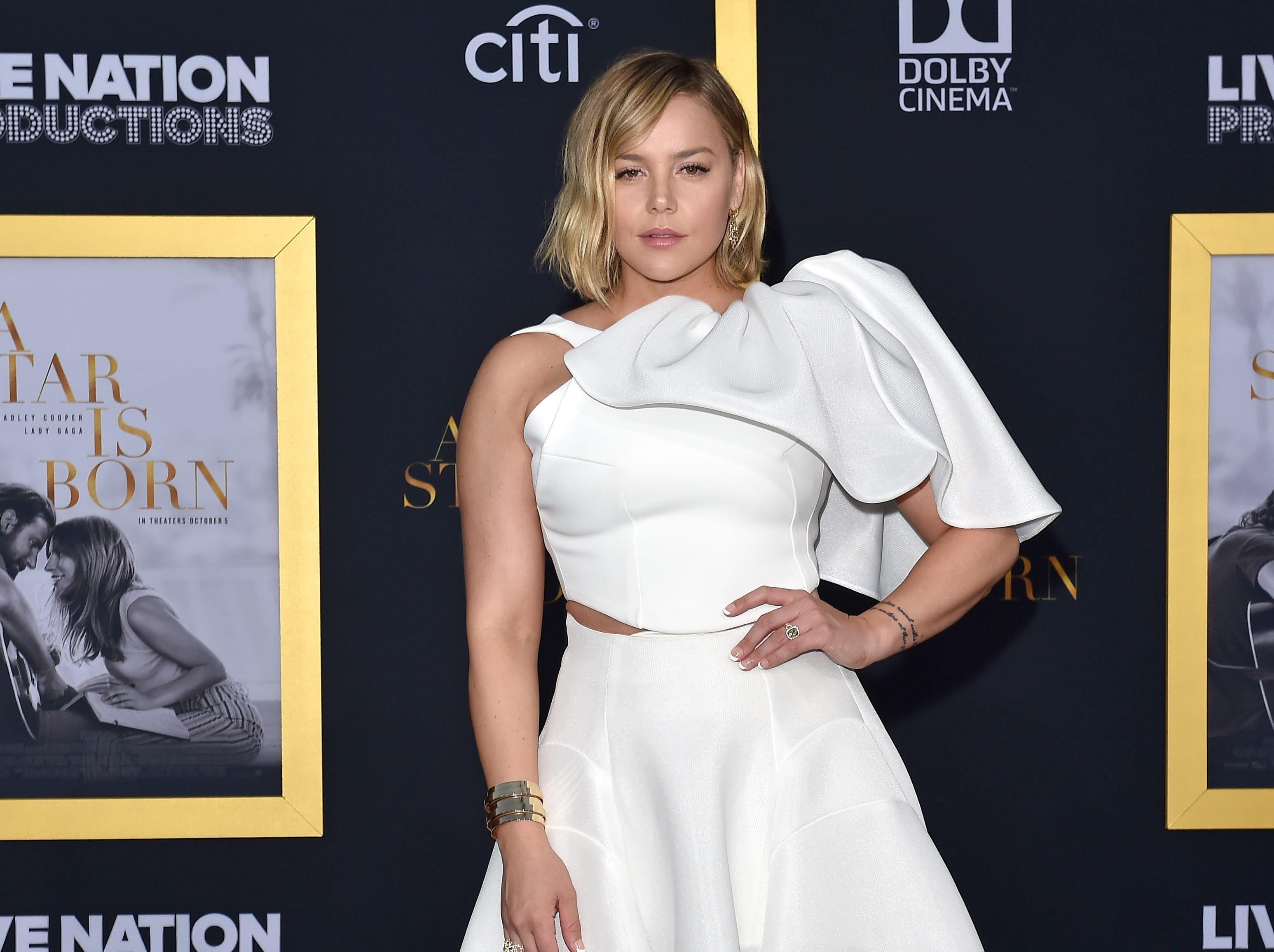 LOS ANGELES, CA - SEPTEMBER 24:  Abbie Cornish attends the premiere of Warner Bros. Pictures' 'A Star Is Born' at The Shrine Auditorium on September 24, 2018 in Los Angeles, California.  (Photo by Axelle/Bauer-Griffin/FilmMagic) ORG XMIT: 775229470 ORIG FILE ID: 1039800600
