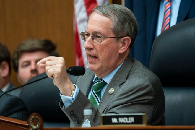 Bob Goodlatte, R-Va., questions Deputy Assistant FBI Director Peter Strzok during a House Judiciary Committee and House Oversight and Government Reform Committee hearing in the Rayburn House Office Building in Washington, on  July 12, 2018.