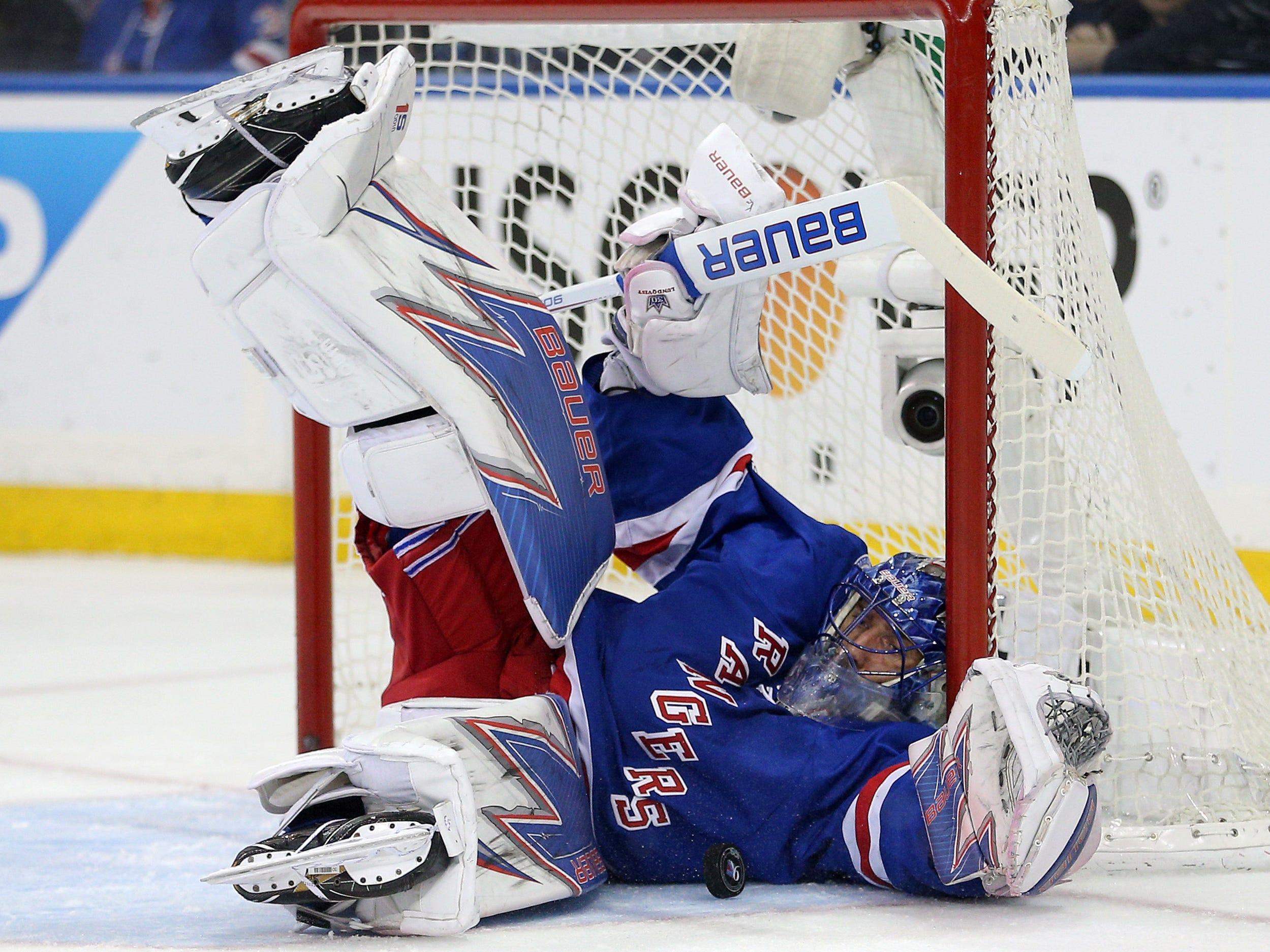New York Rangers goalie Henrik Lundqvist had a .915 save percentage last season.