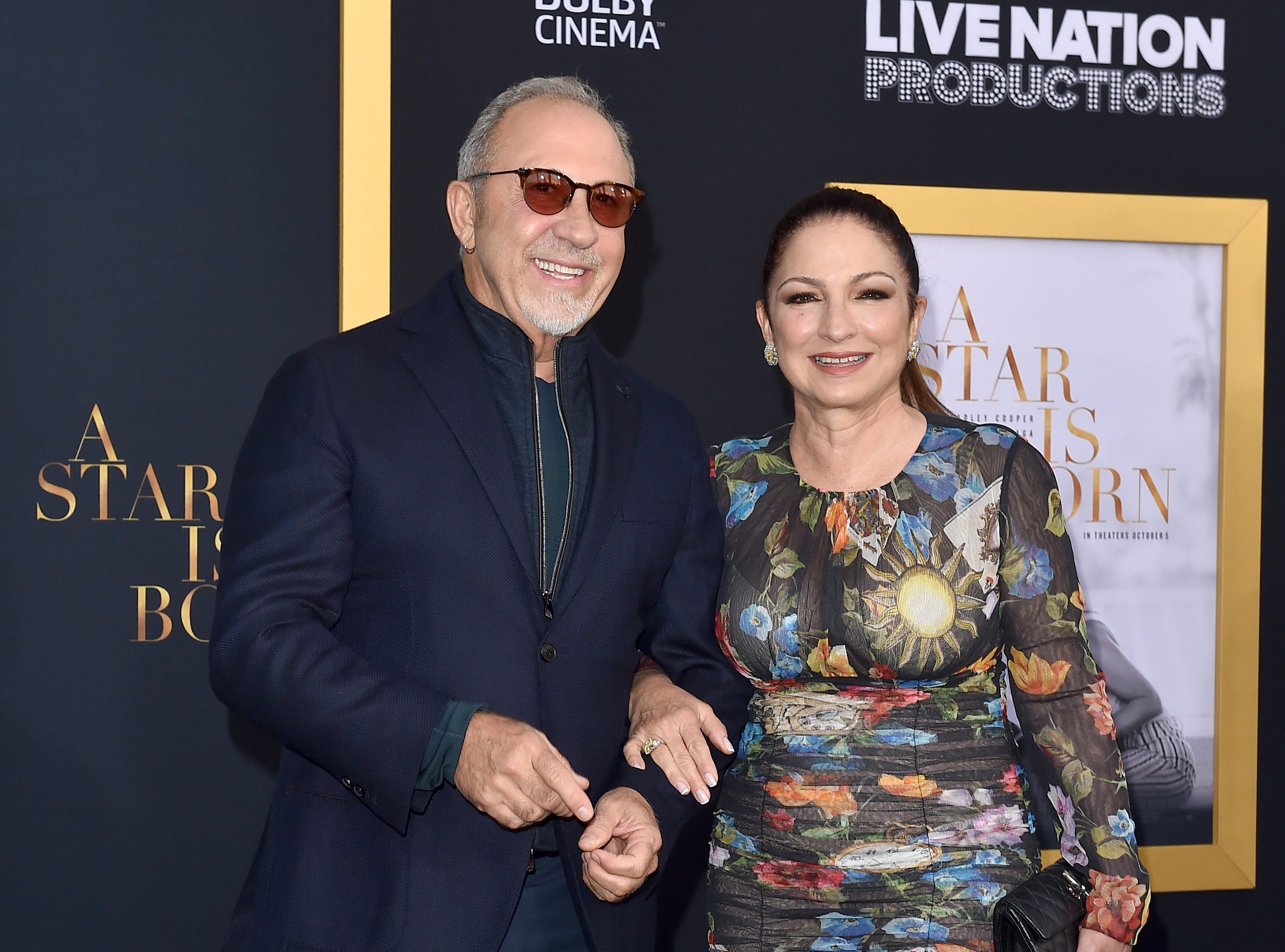 LOS ANGELES, CA - SEPTEMBER 24:  Emilio Estefan and Gloria Estefan attend the premiere of Warner Bros. Pictures' 'A Star Is Born' at The Shrine Auditorium on September 24, 2018 in Los Angeles, California.  (Photo by Axelle/Bauer-Griffin/FilmMagic) ORG XMIT: 775229470 ORIG FILE ID: 1039815706